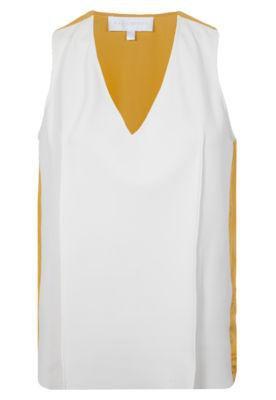 Blusa Maria Bonita Rib Off-White/Amarelo