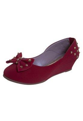 Sapato Scarpin Anna Flynn Laço SPikes Vermelho
