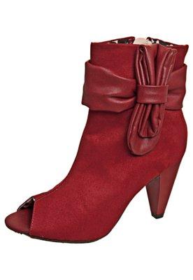 Open Boot Laço Vermelha - Moleca