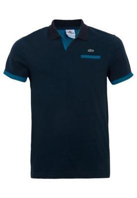 Camisa Polo Lacoste Bolso Azul