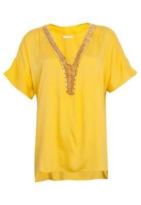 Blusa Forum Ampla Bordados Amarela