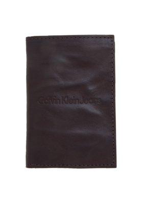 Carteira Calvin Klein Jeans Style Two Marrom