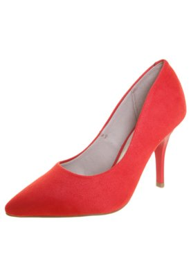 Sapato Scarpin Beira Rio Salto Alto Bico Fino Vermelho