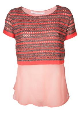 Blusa Espaço Fashion Modern Laranja