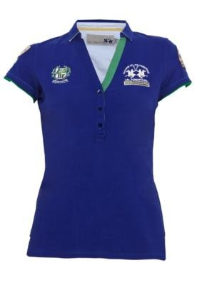 Camisa Polo La Martina Polito Azul