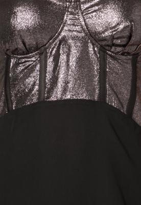Vestido NightStar Metal Glam Preto