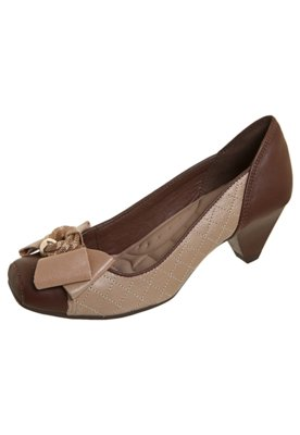 Sapato Scarpin Matelassê Marrom - Dakota