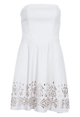 Vestido Cantão Snow Vazados Off-White