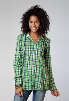 Camisa Petit Bordado Xadrez - Sommer