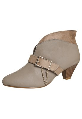 Ankle Boot Fivela Bege - Beira Rio