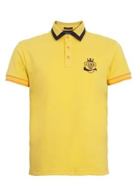 Camisa Polo Coca-Cola Clothing Austrália Vida Amarela - Coc...