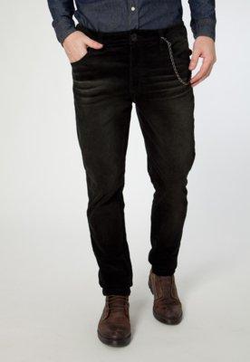 Calça Jeans Cavalera Elastic Boy Veludo Preta