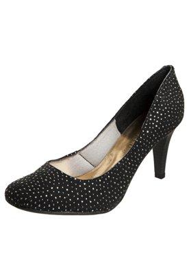 Sapato Scarpin FiveBlu Pontos Metalizados Preto