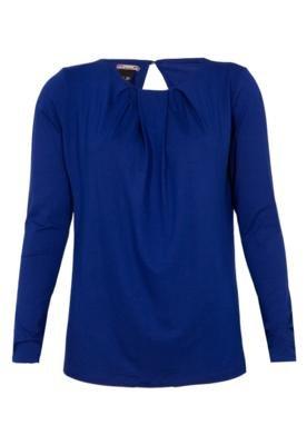 Blusa Comfort Prega Azul - Colcci