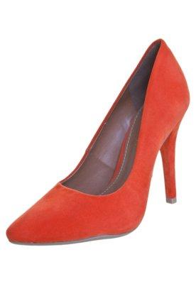 Sapato Scarpin FiveBlu Star Laranja