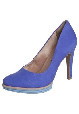 Sapato Scarpin Ramarim Meia Pata Emborrachada Color Azul