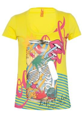 Blusa Coca-Cola Clothing Small Pop Art Amarela - Coca Cola C...