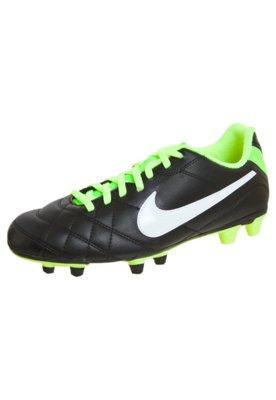 Chuteira Campo Nike Tiempo Rio Preta/Verde