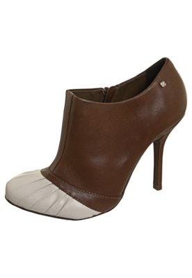 Ankle Boot Recortes Marrom - Capodarte