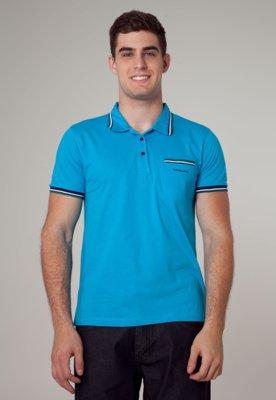 Camisa Polo Cavalera Authentic Azul