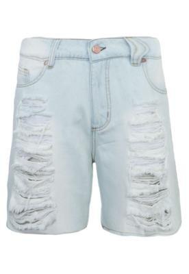 Bermuda Jeans MOB Desfiados Azul