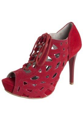 Ankle Boot Crysalis Vazados Vermelha