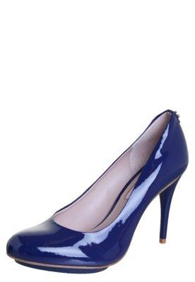 Sapato Scarpin Jorge Bischoff Liso Meia Pata Emborrachada Az...