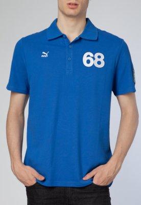 Camisa Polo Puma Football Archives T7 SS Azul