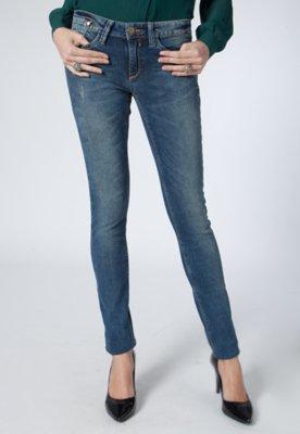 Calça Jeans Skinny Los Angeles Ly Nervuras Azul - Carmim