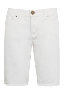 Bermuda Jeans Shoulder Reta Carmela Off-White