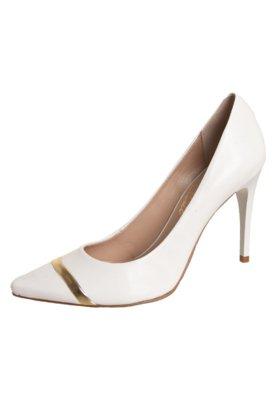 Sapato Scarpin Lillys Closet Captoe Salto Alto Branco - Lill...