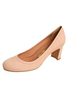 Sapato Scarpin Santa Lolla Bico Redondo Nude
