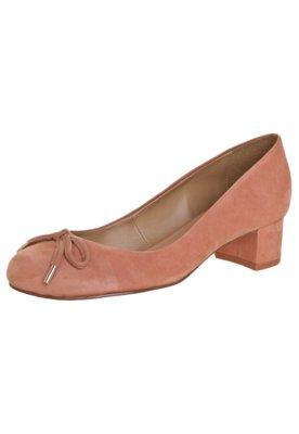 Sapato Scarpin My Shoes Salto Baixo Básico Rosa