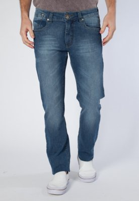 Calça Jeans M.Officer Skinny Bordado Azul - M. Officer