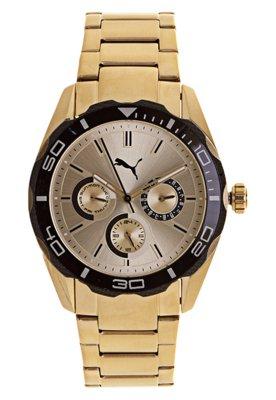 Relógio Puma Challenger ?S Dourado