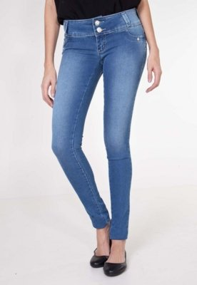 Calça Jeans Sawary Legging Up Now Azul