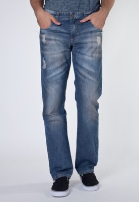 Calça Jeans Sawary Reta Newton Azul