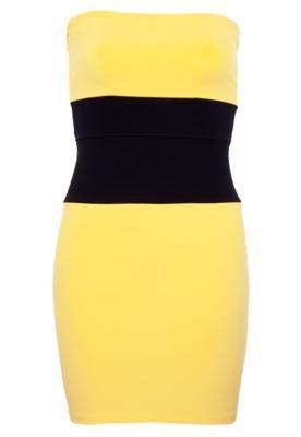 Vestido Sommer Petit Bicolor Amarelo