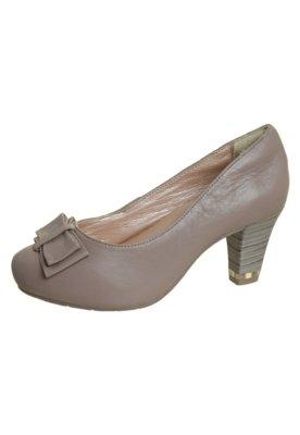 Sapato Scarpin Comfortflex Salto Amortecedor Laço Marrom