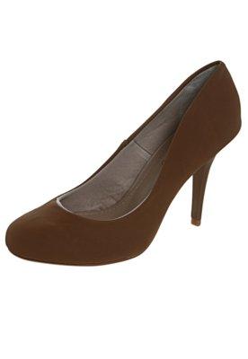 Sapato Scarpin FiveBlu Liso Marrom