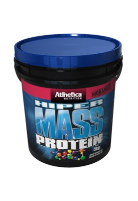Suplemento Atlhetica Nutrition Hiper Mass Protein Morango 5k...