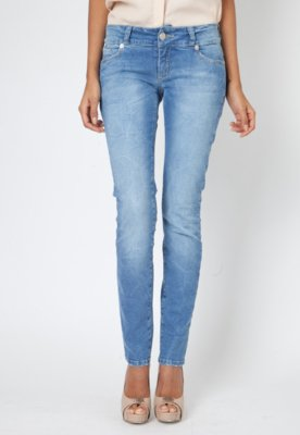 Calça Jeans Forum Skinny Kelly Fissura Azul