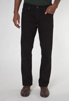 Calça Jeans Levis 514 Slim Long Preta