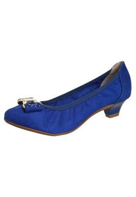 Sapato Scarpin Beira Rio Saltinho Laço Azul