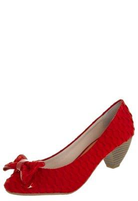Sapato Scarpin FiveBlu Trama Vermelho