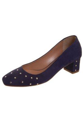 Sapato Scarpin Salto Médio Hotfix Azul - Stéphanie Classic