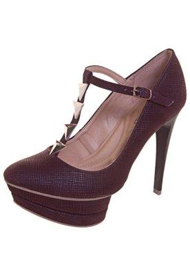 Sapato Scarpin Mary Jane Vinho - Anna Flynn