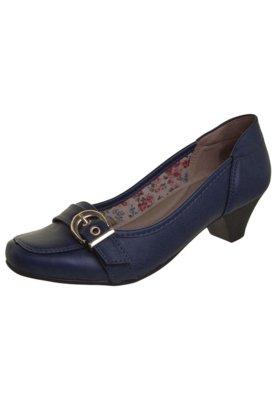 Sapato Scarpin Anna Flynn Fivela Azul