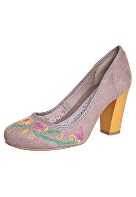 Sapato Scarpin Dijean Frida Bege