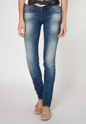 Calça Jeans Colcci Skinny Arabescos Azul
